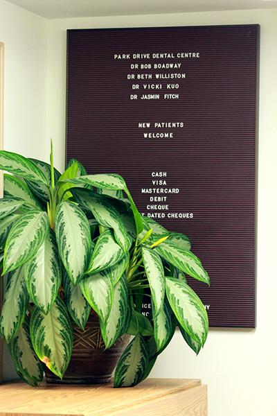 Front desk letterboard