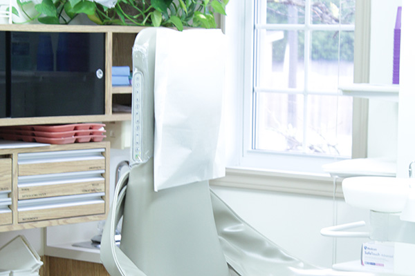 Patient chair in treatment room